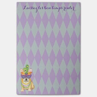 Mardi Gras Frenchie Post-it® Notes