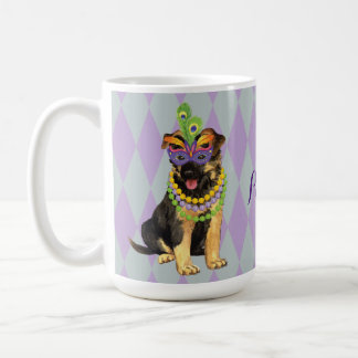 Mardi Gras German Shepherd Coffee Mug