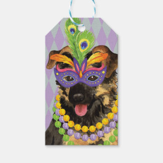 Mardi Gras German Shepherd Gift Tags