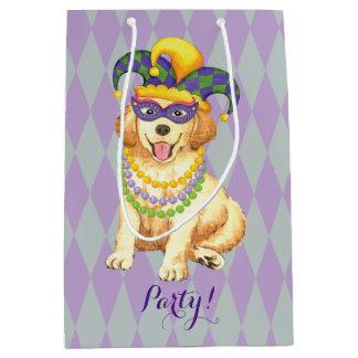 Mardi Gras Golden Medium Gift Bag
