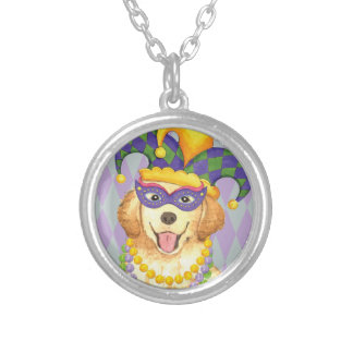 Mardi Gras Golden Silver Plated Necklace