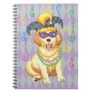 Mardi Gras Golden Spiral Notebook