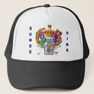 Mardi Gras Gumbo King View Hints please Trucker Hat