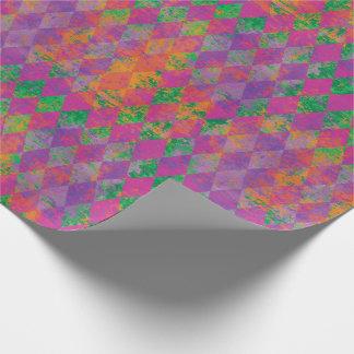 Mardi Gras Harlequin Pattern Wrapping Paper