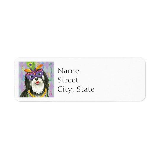 Mardi Gras Havanese Return Address Label