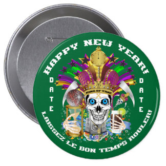 Mardi Gras Holiday Customize View Notes Please 4 Inch Round Button