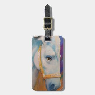 Mardi Gras Horse Luggage Tag
