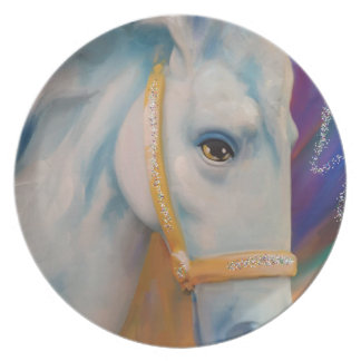 Mardi Gras Horse Party Plate
