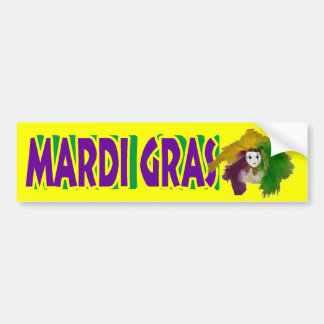 Mardi Gras Indian Mask Bumper Sticker