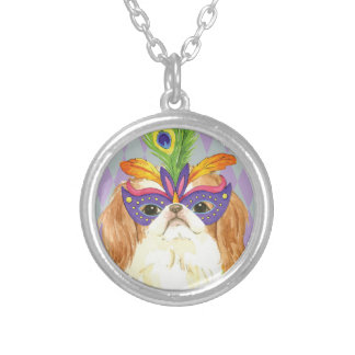Mardi Gras Japanese Chin Silver Plated Necklace