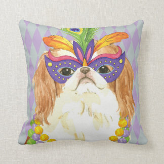 Mardi Gras Japanese Chin Throw Pillow