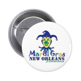 Mardi Gras Jester - NOLA 2 Inch Round Button