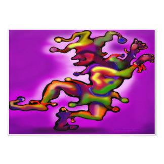 Mardi Gras Jester Purple Invitation