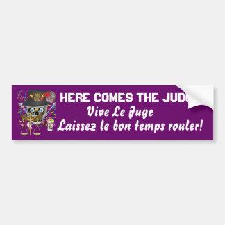 Mardi Gras Judge 30 colors view notes Car Bumper Sticker