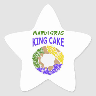 MARDI GRAS KING CAKE STAR STICKERS