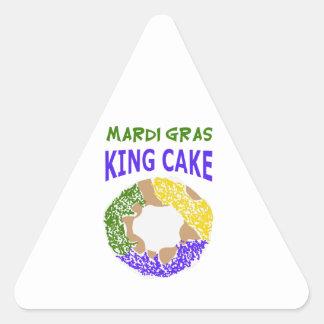 MARDI GRAS KING CAKE TRIANGLE STICKER