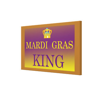 Mardi Gras King canvas