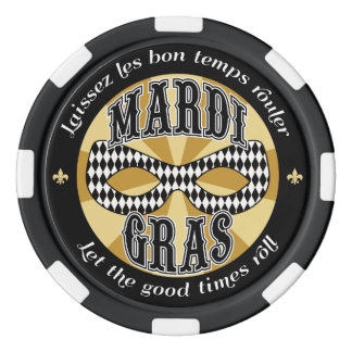 Mardi Gras Logo Set Of Poker Chips