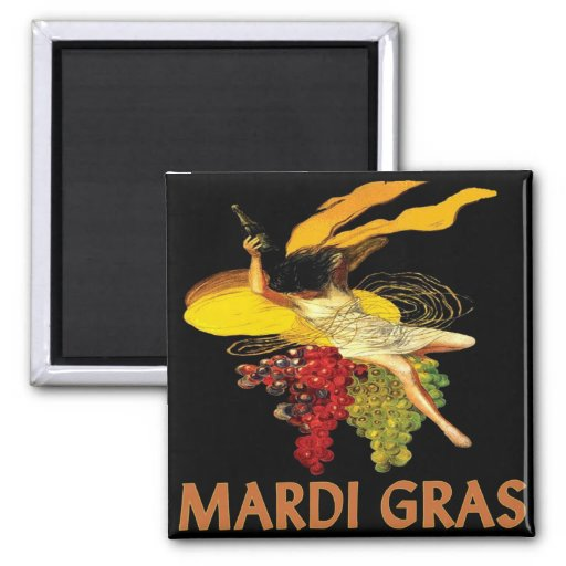 Mardi Gras Maid with Grapes Magnet
