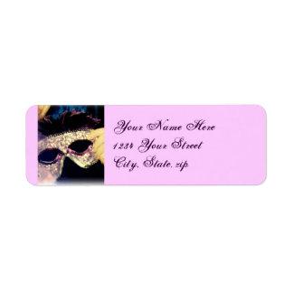 Mardi Gras Mask address labels