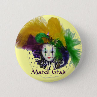 Mardi Gras Mask Button
