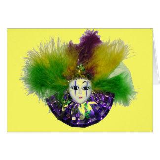Mardi Gras Mask Card