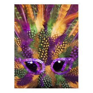 Mardi Gras mask, close-up, full frame Postcard