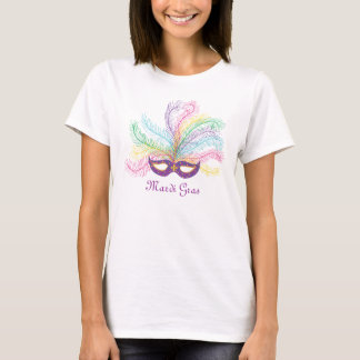 Mardi Gras Mask Feathers T-Shirt