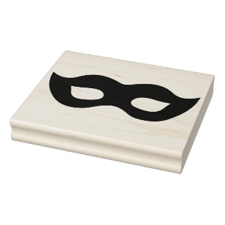 Mardi Gras Mask Silhouette Rubber Art Stamp