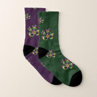 Mardi Gras Mask Socks 1