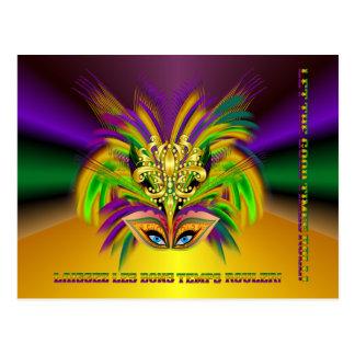 Mardi-Gras-Mask-The-Queen-V-2 Postcard