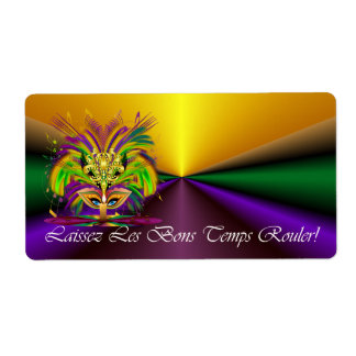 Mardi-Gras-Mask-The-Queen-V-4 Shipping Label