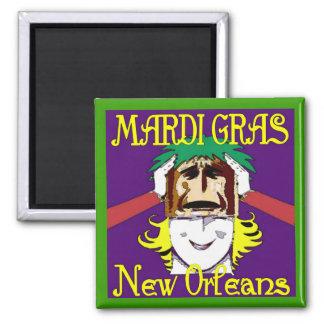 MArdi Gras Masking Magnet