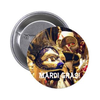Mardi Gras Masks Button