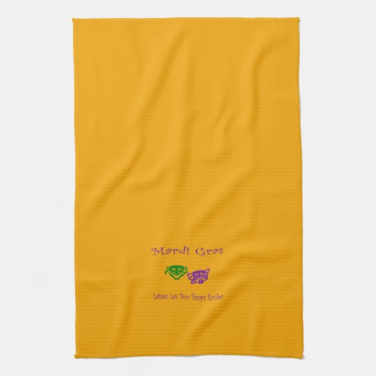 Mardi Gras Masks Rouler Kitchen Towels