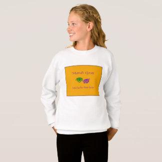 Mardi Gras Masks Rouler Sweatshirt