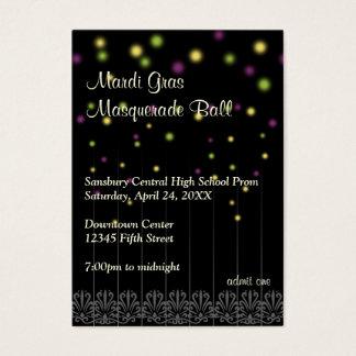 Mardi Gras masquerade prom bid admission ticket