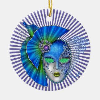 Mardi Gras - Masquerade - SRF Ceramic Ornament