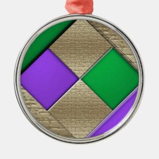 Mardi Gras Metal Ornament