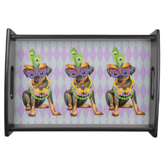 Mardi Gras Min Pin Serving Tray