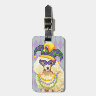 Mardi Gras Miniature Poodle Luggage Tag