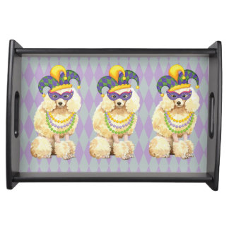 Mardi Gras Miniature Poodle Serving Tray