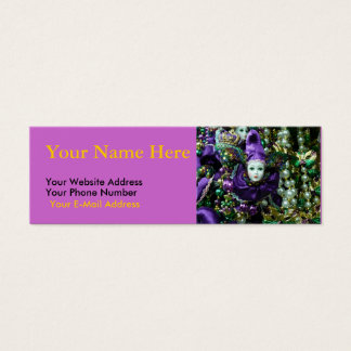 Mardi Gras Motif Slim Cards