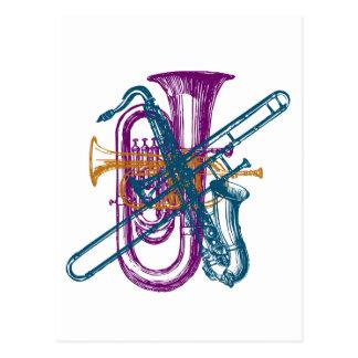Mardi Gras Music Postcard