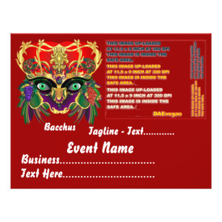 Mardi Gras Mythology Bacchus View Hints Please Custom Flyer