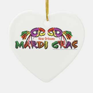 Mardi Gras New Orleans Ceramic Ornament