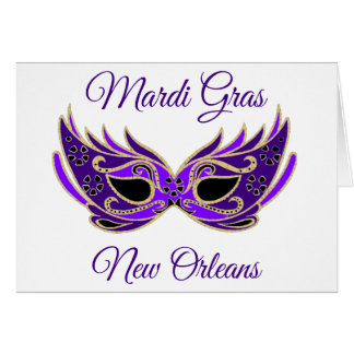 Mardi Gras New Orleans Mask Card