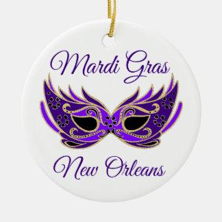 Mardi Gras New Orleans Mask Ceramic Ornament