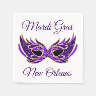 Mardi Gras New Orleans Mask Paper Napkin