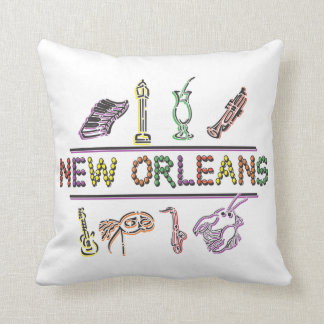 Mardi Gras New Orleans Throw Pillow